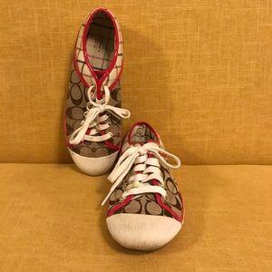 Coach Shoes - Pink Trim